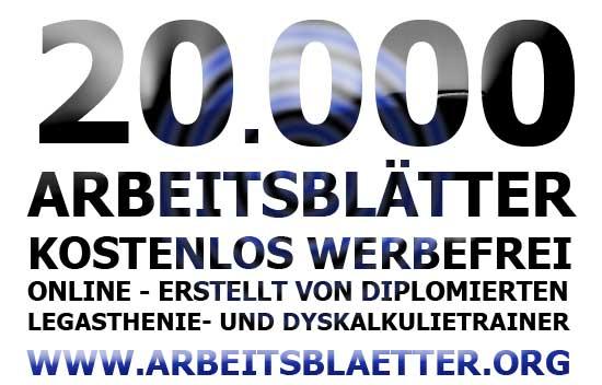 20.000 arbeitsblätter online - legasthenie